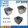定做304不锈钢标准桶车200L无死角小料车可移动圆角肉料车